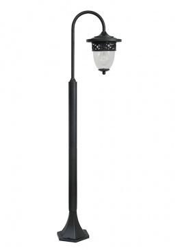 Black Miniature Swan Neck Low Level Garden Lamp Post