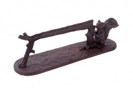 Black or Rustic Squirrel Cast Iron Boot Scraper