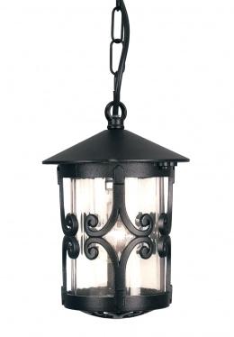 Black Ornate Chain Porch Lantern
