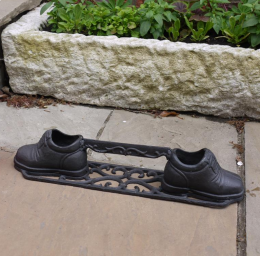 "Black ""Pair of Shoes"" Iron Boot Scraper"