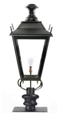 Black Dorchester Pillar Post Light - 71cm