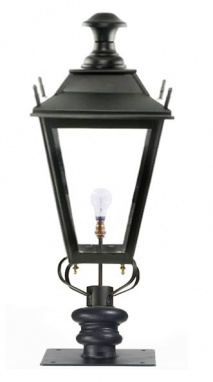 Black Dorchester Pillar Post Light - 90cm