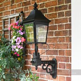 Black Royston Victorian Garden Wall Light