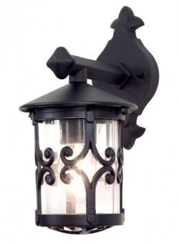 Black Scroll Design Traditional Top Fix Wall Lantern