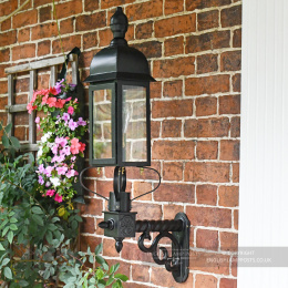 Black Slimline Newhay Victorian Garden Wall Light
