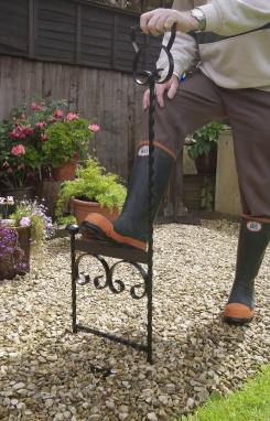 Spiked Garden Boot Scraper With Handle