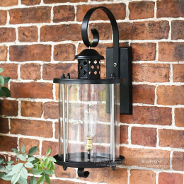 Black Top Fix Cylindrical Wall Light