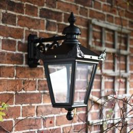 Black Top Fix Victorian Wall Lantern