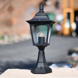 Black Traditional Entrance Pillar Light