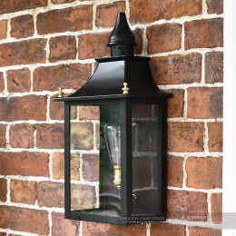 Black Traditional Victorian Flush Mounted Porch Light