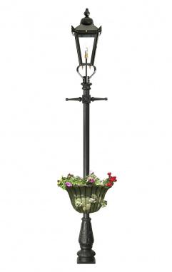 Victorian Garden Lamp Post With Circular Planter