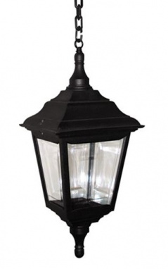 Black Victorian Styled Hanging Chain Lantern