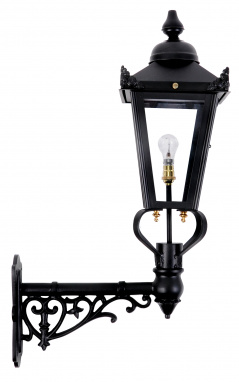 Ornate Victorian Wall Light in Black