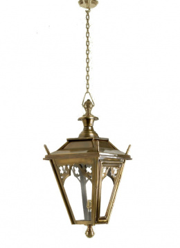Brass Gothic Style Chain Hanging Ceiling Lantern