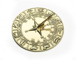 Polished Brass Zodiac Sundial