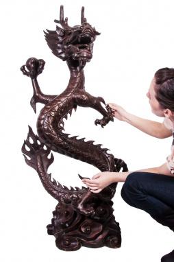 Solid Bronze Dragon Sculpture