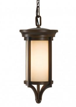 Dark Bronze Art Deco Chain Hanging Lantern