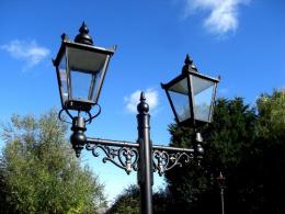 Car park lighting column