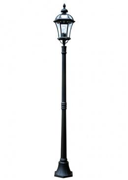 Cast Aluminium Garden Lamp Post Lantern Set With Bevelled Glass