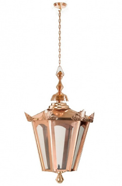 Victorian Style Chain Hanging Copper Lantern