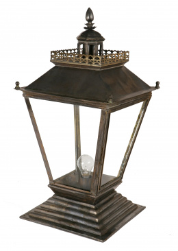Chateau Inspired Antique Pillar Light For Gardens