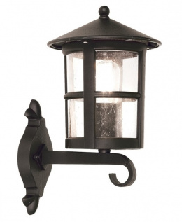 Classic Black Bottom Fix Cylindrical Porch Light