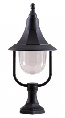Classic Black Conical Pillar Light