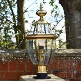 Classic Polished Brass Pillar Light