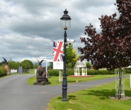 Victorian Style CCTV Lamp Post Column