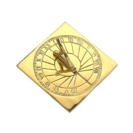Contemporary Sunray Brass Sundial