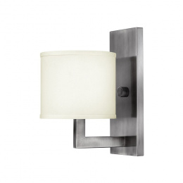 Contemporary Interior Wall Light With Cream Shade