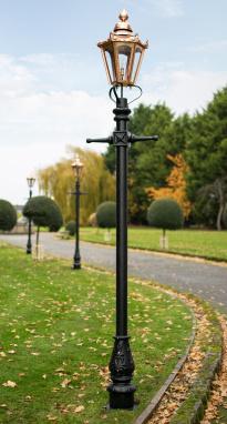 Medium Copper Victorian Hexagon Lamp Post