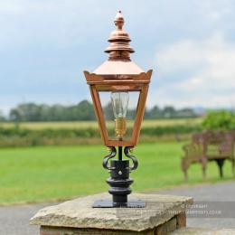 Black Kensington Pillar Top Light