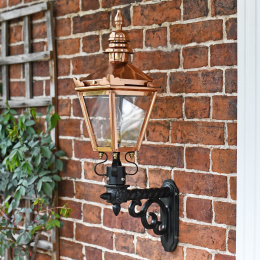 Copper Kensington Wall Lantern On Royale Bracket