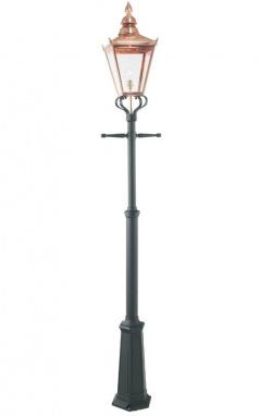 The Highfield Copper Victorian Aluminium Lamp Post and Lantern Set