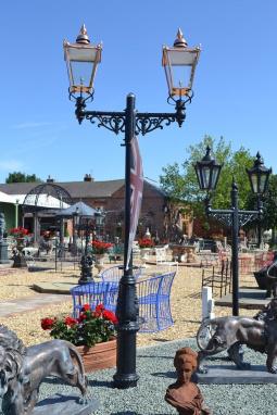"""Balmoral"" Copper Victorian Double Head Lamp Post"