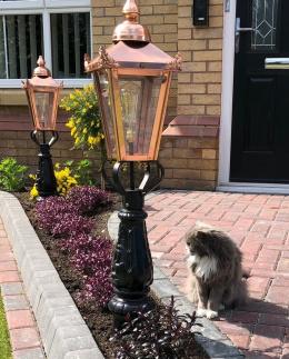 Copper Victorian Driveway Light