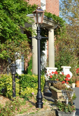 Copper Victorian Garden Lamp Post 2.7m