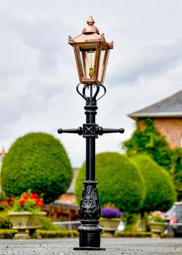 Copper Victorian Miniature Lamp Post  in Situ