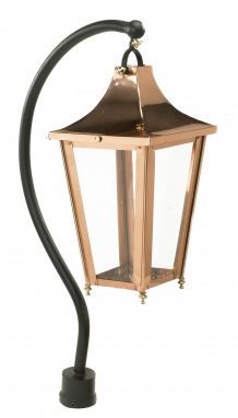 Copper Swan Neck Victorian Lantern