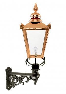 Copper Victorian Wall Light On Ornate Bracket
