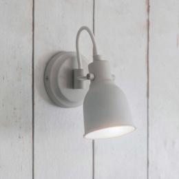 Cream Contemporary Swan Necked Wall Light by Garden Trading