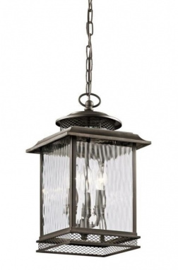 Dappled Glass Nautical Style Chain Lantern