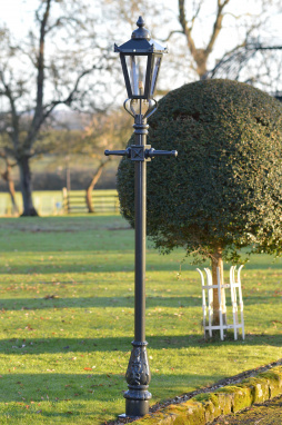 Dark Green Hand Painted Garden Lamp Post