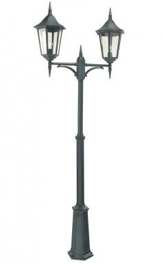 Grand Dual Head Lamp Post and Lantern Set