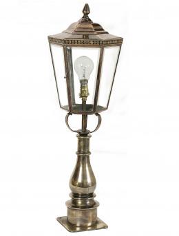 Deluxe Hexagonal Solid Copper and Brass Pillar Light