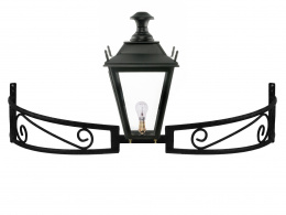 Black Dorchester Lantern on Bow Bracket