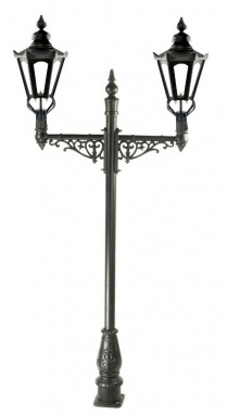 Grand Double Head Hexagonal Victorian Lamp Post