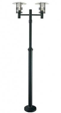 Liestal Double Head Modern Black Lamp Post