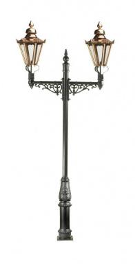 3.6m Double Copper Hexagonal Lamp Post